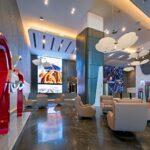 a view of Burj Alfardan Lobby